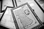 Photo shows historical maps relating to the disputed Dokdo Islands, known to Japanese as Takeshima, at  the Northeast Asian History Foundation offices in Seoul, South Korea on on 21 June 2010..Photographer: Robert Gilhooly