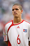 10 June 2007: Cuba's Osvaldo Alonso. The Panama and Cuba Men's National Teams tied 2-2 at Giants Stadium in East Rutherford, New Jersey in a first round game in the 2007 CONCACAF Gold Cup.