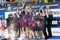 Jug Dubrovnik European Champion 2016 Water Polo LEN <br /> Trophy Ceremony<br /> Budapest, Alfred Hajos National Swimming Complex<br /> LEN 2016 Water Polo Champions League Final Six<br /> Budapest HUN June 2 - 5, 2016<br /> Day 3 June 4, 2016<br /> Photo Giorgio Scala/Deepbluemedia/Insidefoto