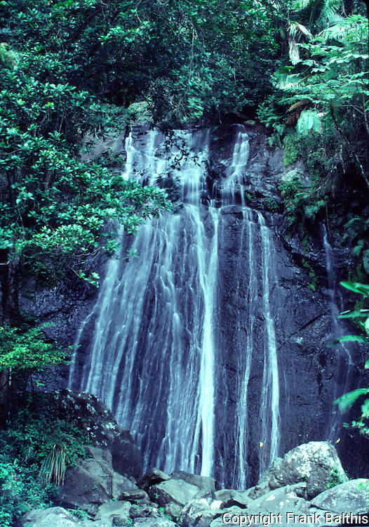 Waterfall in El Yunque rainforest