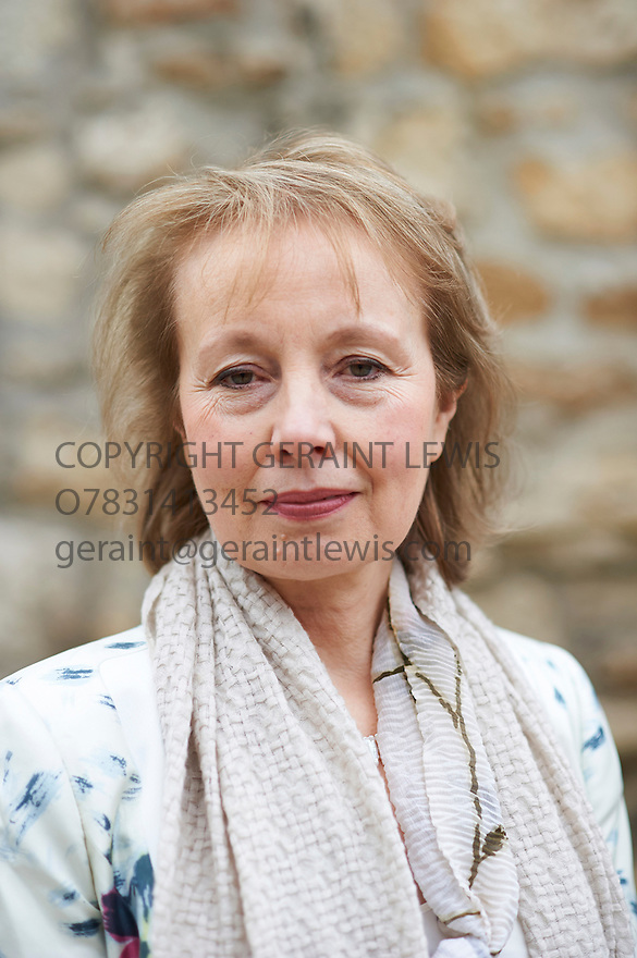 Jane Dunn biographer and writer of Daphne du Maurier and her sisters at Christchurch College  at The Oxford  Literary Festival   2013. Credit Geraint Lewis