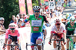 Green Jersey Arnaud Demare (FRA) Groupama-FDJ wins Stage 4 of the Route d'Occitanie 2019, running 154.8km from Gers - Astarac Arros en Gascogne to Clermont-Pouyguillès, France. 23rd June 2019<br /> Picture: Colin Flockton | Cyclefile<br /> All photos usage must carry mandatory copyright credit (© Cyclefile | Colin Flockton)