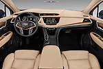 Stock photo of straight dashboard view of 2017 Cadillac XT5 AWD-Platinum 5 Door SUV Dashboard