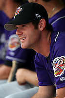 July 7th 2008:  Pitcher Jim Deters of the Akron Aeros, Class-AA affiliate of the Cleveland Indians, during a game at NYSEG Stadium in Binghamton, NY.  Photo by:  Mike Janes/Four Seam Images