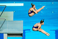 Picture by Rogan Thomson/SWpix.com - 17/07/2017 - Diving - Fina World Championships 2017 -  Duna Arena, Budapest, Hungary - Grace Reid and Katherine Torrance of Great Britain in action in the Women's 3m Synchronised Springboard Preliminary.
