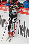 05/01/2014, Val Di Fiemme - 2014 Cross Country Ski World Cup Tour de ski <br /> Giorgio Di Centa at the finish of the Final Climb pursuit race in Val Di Fiemme, Italy on 05/01/2014. Therese Johaug from Norway has won for the first time Tour de ski.