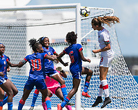 Bradenton, FL - Sunday, June 12, 2018: Jordyn Huitema prior to a U-17 Women's Championship 3rd place match between Canada and Haiti at IMG Academy. Canada defeated Haiti 2-1.
