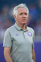 Orlando, Florida - Sunday, May 14, 2016: Orlando Pride head coach Tom Sermanni during a National Women's Soccer League match between Orlando Pride and New York Flash at Camping World Stadium.