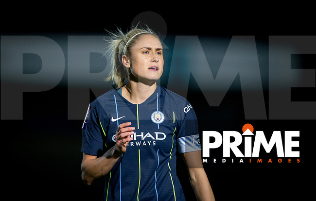 Steph Houghton of Man City Women during the FAWSL match between Reading Women and Manchester City Women at Adams Park, High Wycombe, England on 13 March 2019. Photo by Andy Rowland.