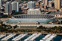 aerial photograph Soldier Field, Chicago, Illinois