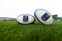 A general view of Champions Cup branded balls. European Rugby Champions Cup match, between Bath Rugby and Benetton Rugby on October 14, 2017 at the Recreation Ground in Bath, England. Photo by: Patrick Khachfe / Onside Images