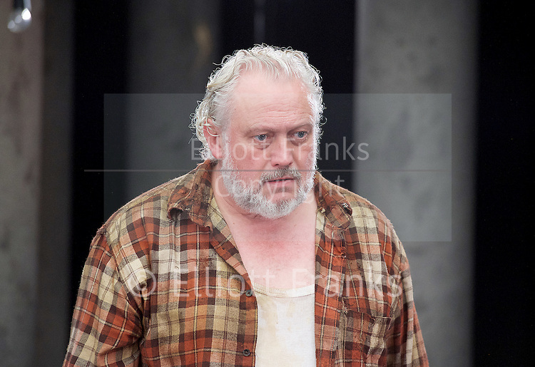 Forget Me Not <br /> by Tom Holloway <br /> directed by Steven Atkinson<br /> at The Bush Theatre, London, Great Britain <br /> press photocall <br /> 10th December 2015 <br /> <br /> Russell Floyd (as Gerry)<br /> <br /> Eleanor Bron (as Mary)<br /> <br /> Sarah Ridgeway (as Sally)<br /> Sargon Yelda (as Mark)<br /> <br />  <br /> Photograph by Elliott Franks <br /> Image licensed to Elliott Franks Photography Services