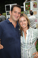 Nick Grouf, Shana Eddy==<br /> LAXART 5th Annual Garden Party Presented by Tory Burch==<br /> Private Residence, Beverly Hills, CA==<br /> August 3, 2014==<br /> ©LAXART==<br /> Photo: DAVID CROTTY/Laxart.com==