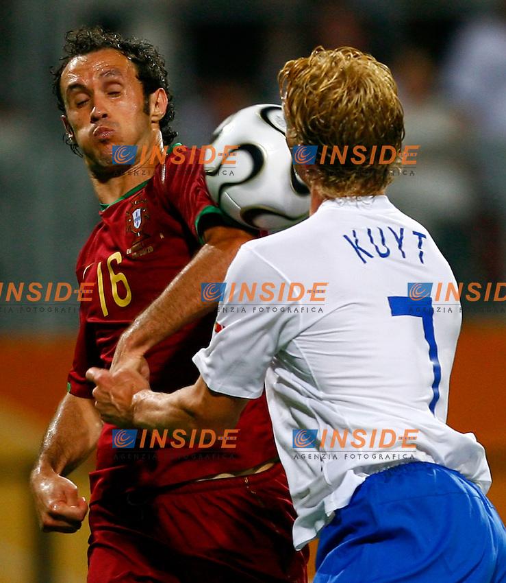 Nuremberg 25/6/2006 World Cup 2006 Ottavi di finale Portogallo Olanda 1-0.Photo Andrea Staccioli Insidefoto.Ricardo Carvalho Portugal Dirk Kuyt Netherlands.