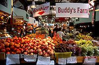 Granville Island Public Market, Vancouver, BC, British Columbia, Canada - Fresh Fruit for Sale at Farmer's Stall