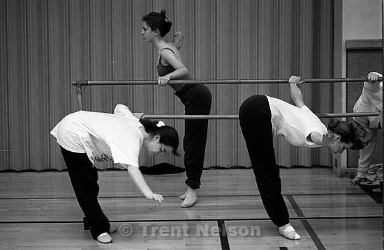 Pat Quayle at ballet performance<br />