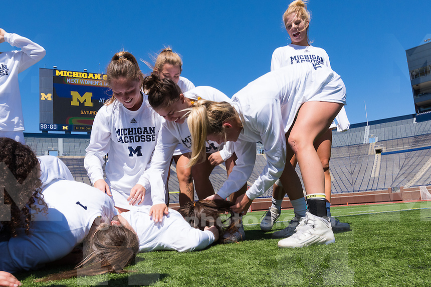 The University of Michigan women's lacrosse team falls to Maryland, 18-8, at Michigan Stadium in Ann Arbor, MI on April 23, 2016.