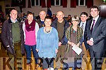 Pictured at the Éigse na Brídeoige in Caherdaniel on friday evening were l-r; Paddy de Buis, Laoise Nic Aogáin, Michéal O Leidhin, Áine Ní Bheoláin, Michéal O hAileasa, Fíona de Buis, Tim Horgan & Brendan Griffiin TD.