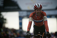 World Champion victory for Thalita Dejong (NLD/Rabo-Liv) crossing the finish line<br /> <br /> Elite Women's race<br /> UCI 2016 cyclocross World Championships