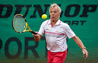 Hilversum, The Netherlands,  August 18, 2020,  Tulip Tennis Center, NKS, National Senior Championships, Men's single 80+  The v/d Bosch (NED)<br /> Photo: www.tennisimages.com/Henk Koster