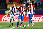 Atletico de Madrid's Saul Niguez (c) and Jose Maria Gimenez (r) and Real Sociedad's Sergio Canales during La Liga match. April 4,2017. (ALTERPHOTOS/Acero)