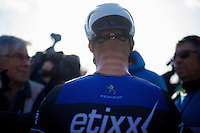 Tom Boonen (BEL/Etixx-QuickStep) being interviewed post-race<br /> <br /> E3 - Harelbeke 2016