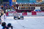 Red Bull Toro Rosso driver Jaime Alguersuari drives his Formula 1 car on Hong Kong's Lung Wo Road during the Red Bull Dragon Run 2011 in Hong Kong, China on the 18th June 2011.