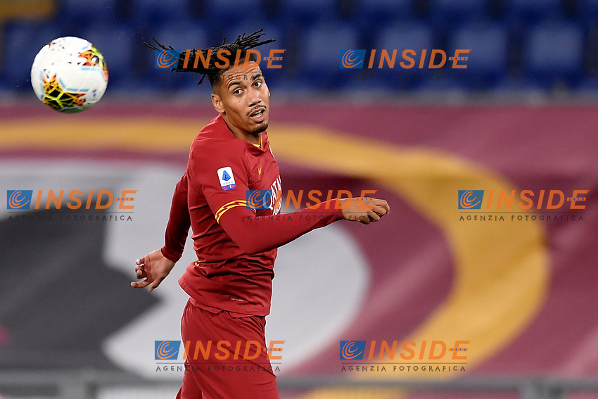Chris Smalling of AS Roma in action during the Serie A football match between AS Roma and UC Sampdoria at Olimpico stadium in Rome ( Italy ), June 24th, 2020. Play resumes behind closed doors following the outbreak of the coronavirus disease. AS Roma won 2-1 over UC Sampdoria. <br /> Photo Andrea Staccioli / Insidefoto
