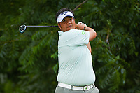 Kiradech Aphibarnrat (THA) watches his tee shot on 6 during round 2 of the 2019 Charles Schwab Challenge, Colonial Country Club, Ft. Worth, Texas,  USA. 5/24/2019.<br /> Picture: Golffile   Ken Murray<br /> <br /> All photo usage must carry mandatory copyright credit (© Golffile   Ken Murray)