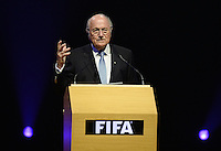 Fussball 63. FIFA Kongress auf Mauritius 2013    30.05.2013 FIFA Praesident Joseph S. Blatter (Schweiz) eroeffnet den Kongress