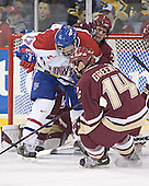 Brad King, Mike Brennan, Matt Greene - The University of Massachusetts-Lowell River Hawks defeated the Boston College Eagles 6-3 on Saturday, February 25, 2006, at the Paul E. Tsongas Arena in Lowell, MA.
