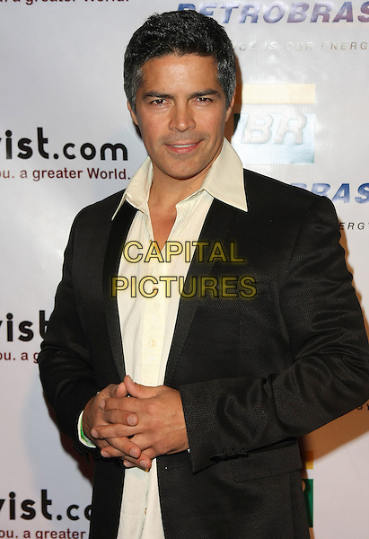 ESAI MORALES .7th Annual Artivist Film Festival Awards held at the Egyptian Theatre, Hollywood, California, USA, 4th December 2010..half length black jacket cream white shirt .CAP/ADM/TB.©Tommaso Boddi/AdMedia/Capital Pictures.