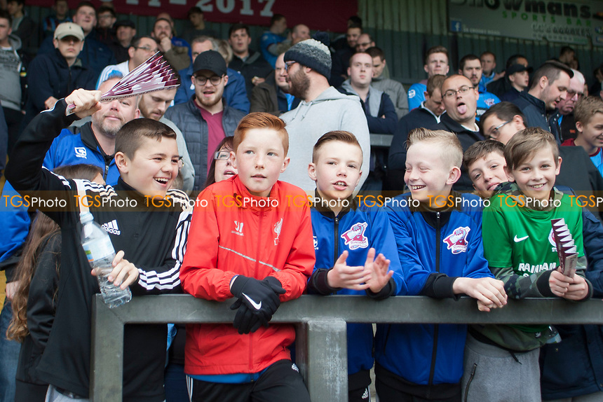 More chipper Scunny fans during Scunthorpe United vs Millwall, Sky Bet EFL League 1 Play-Off Football at Glanford Park on 7th May 2017