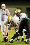Torrance, CA 10/06/11 - Arthur Fischer (Peninsula #67) and Matt Imwalle (Peninsula #17) in action during the Peninsula vs South Varsity football game.