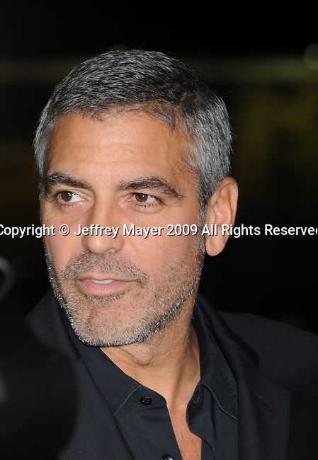 """WESTWOOD, CA. - November 30: George Clooney arrives at the """"Up In The Air"""" Los Angeles Premiere at Mann Village Theatre on November 30, 2009 in Westwood, California."""
