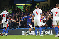 Alvaro Morata scores Chelsea's opening goal during Chelsea vs Crystal Palace, Premier League Football at Stamford Bridge on 4th November 2018