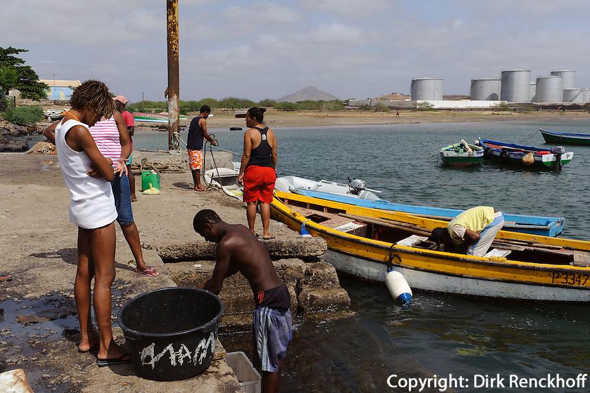 Hafen in Palmeira, Sal, Kapverden, Afrika
