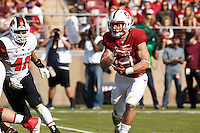 Stanford, CA - November 5, 2016: Christian McCaffrey during  the Stanford vs Oregon State game at Stanford Stadium Saturday. <br /> <br /> Stanford won 26-15.