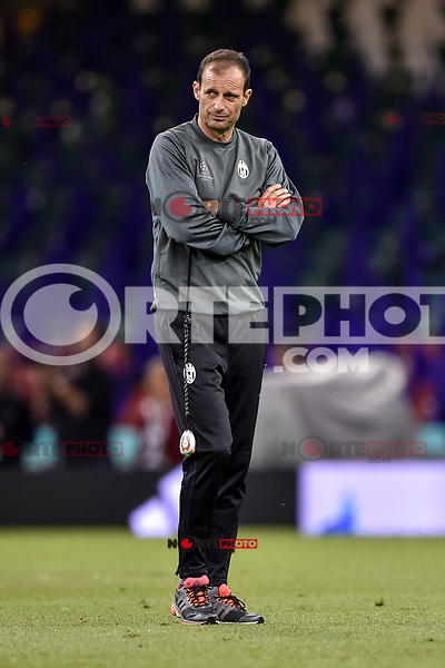 Massimiliano Allegri manager of Juventus during the training session ahead the UEFA Champions League Final between Real Madrid and Juventus at the National Stadium of Wales, Cardiff, Wales on 2 June 2017. Photo by Giuseppe Maffia.<br /> Giuseppe Maffia/UK Sports Pics Ltd/Alterphotos /NortePhoto.com