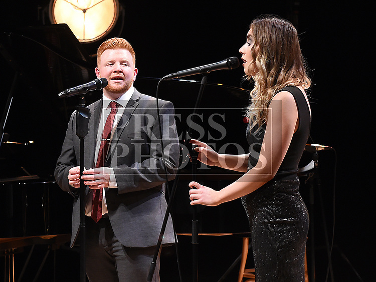 Seán Tester with special guest Claire Regan at his sellout shows in the Droichead Arts Centre. Photo:Colin Bell/pressphotos.ie