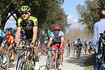 The peloton including Luke Durbridge (AUS) Mitchelton-Scott on sector 3 Radi during Strade Bianche 2019 running 184km from Siena to Siena, held over the white gravel roads of Tuscany, Italy. 9th March 2019.<br /> Picture: Eoin Clarke | Cyclefile<br /> <br /> <br /> All photos usage must carry mandatory copyright credit (© Cyclefile | Eoin Clarke)
