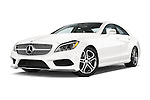 Stock pictures of low aggressive front three quarter view of a 2015 Mercedes Benz CLS-Class CLS400 2 Door Coupe Low Aggressive