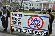 March 5, 2012  (Washington, DC)  Anti-Zionist Orthodox Jews protested in front of the White House as Israeli Prime Minister Binyamin Netanyahu met with President Obama.  (Photo by Don Baxter/Media Images International)