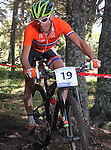 05.09.2015 La Massana Andorra. 201 UCI Mountain Bike World Champions.Picture show Van Houts Rudi (NED) in action during Men ELite Cross-country Olympic World Champions