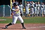 15 April 2009: University of Vermont Catamount catcher Jeanine Connolly, a Senior from West Bridgewater, MA, in action against the University at Albany Great Danes at Archie Post Field in Burlington, Vermont. The Great Danes swept the Catamounts 2-0 and 12-0 in the afternoon double-header. Mandatory Photo Credit: Ed Wolfstein Photo
