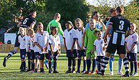 Bolton Wanderers players shake hands with Atherton Collieries' players before the match<br /> <br /> Photographer Alex Dodd/CameraSport<br /> <br /> Football Pre-Season Friendly - Atherton Collieries v Bolton Wanderers - Tuesday 10th July 2018 - Alder House - Atherton<br /> <br /> World Copyright &copy; 2018 CameraSport. All rights reserved. 43 Linden Ave. Countesthorpe. Leicester. England. LE8 5PG - Tel: +44 (0) 116 277 4147 - admin@camerasport.com - www.camerasport.com