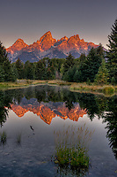 Grand Teton Range, from Schwabacher's. Teton National Park, Wyoming.