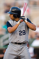 Lake County first baseman Argenis Tavarez (28) at bat versus Kannapolis at Fieldcrest Cannon Stadium in Kannapolis, NC, Saturday, August 11, 2007.