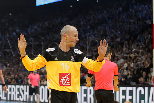 11.01.2017. Accor Arena, Paris, France. 25th World Handball Championships France versus Brazil.  Thierry Omeyer France in action