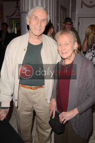 """Peter Mark Richman, Helen Richman<br /> at Rich Little's signing of  """"People I've Known and Been: Little by Little,"""" honoring George Burns, Johnny Carson and Dean Martin with a display at the Hollywood Museum of the props he has used to impersonate them over the years, The Hollywood Museum, Hollywood, CA 06-01-18<br /> David Edwards/DailyCeleb.com 818-249-4998"""